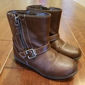 Girls BOC Brown Ankle Boots Size 11